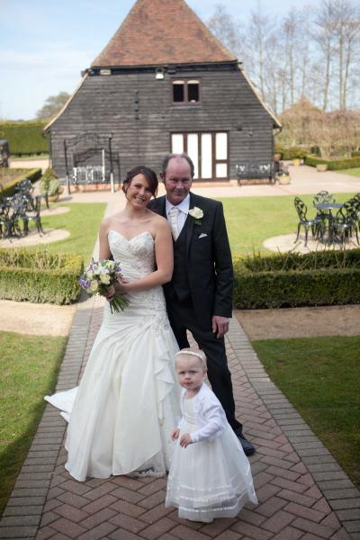 wedding family old kent barn
