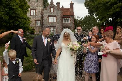wedding confetti shot tower house canterbury