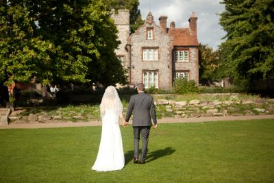 tower house canterbury wedding photo